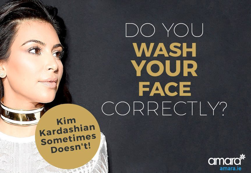 Do You Wash Your Face Correctly - Kim Kardashian