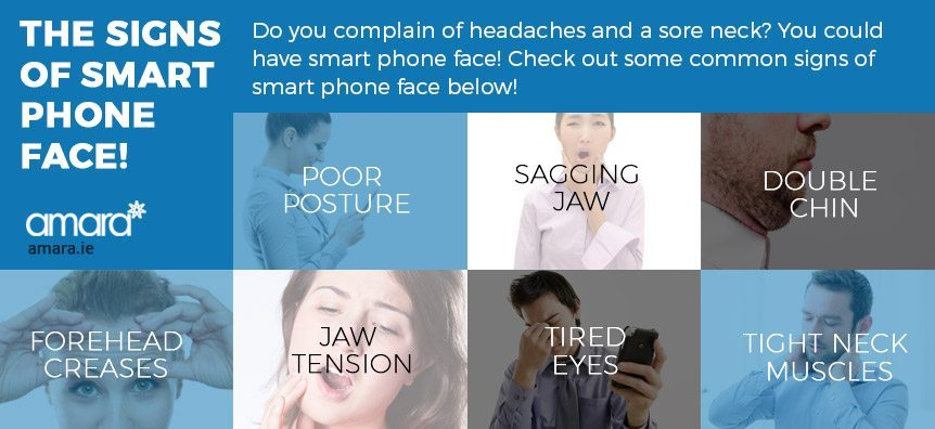 the signs of smart phone face